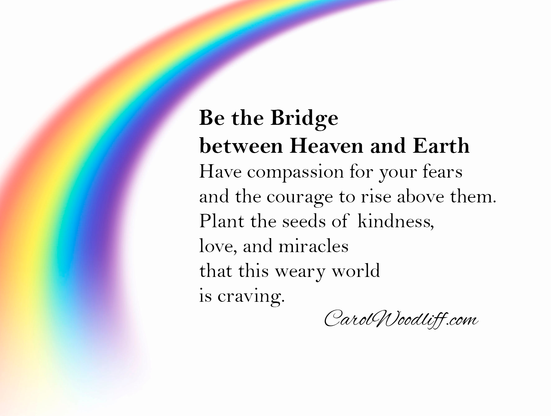 Rainbow and quote