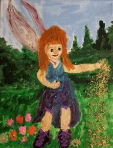 fairy wearing combat boots