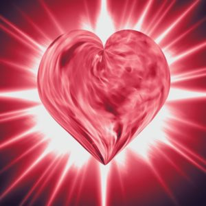 Heart with light