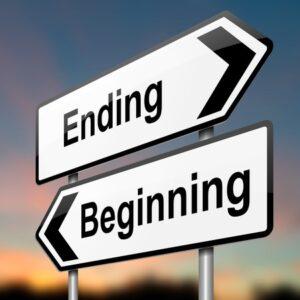 Signs Beginnings and endings